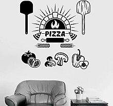 LKJHGU Lebensmittel Zutaten Wandaufkleber Pizza