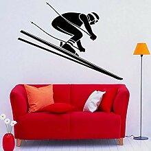 LKJHGU Ski Wandaufkleber Extremsport Vinyl Tür