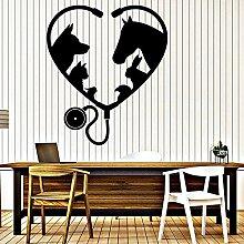 LKJHGU Tierdekoration Wand Krankenhaus Veterinär