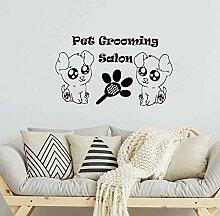 LKJHGU Wanddekoration mit Füßen und Hundekamm