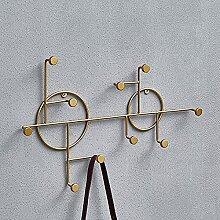 LKJJTG Metall Wandgarderobe Hakenleiste,Vintage,