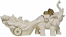 LKK-KK Dekorationen Art Craft Elefant Weinregal