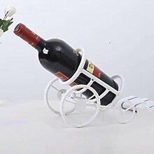 LKK-KK Dekorationen Art Craft Tricycle Weinregal