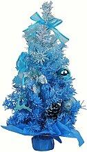 lkklily-christmas Baum Violett Gradient Baum Weihnachtsbaum Anzug Weihnachten Dekoration Einkaufszentrum Hotel Supplies, blau, 60 cm