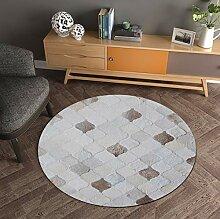 Lkrou Teppich Familie Set Runde Textur Teppich
