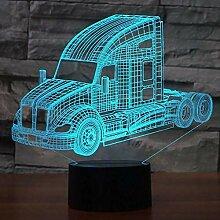 LKW 3d LED Nachtlichter 7 Farbwechsel Touch Usb