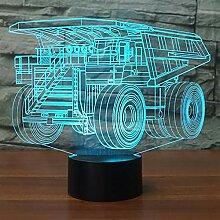 LKW 3D Nachtlicht LED Remote Touch Switch 7