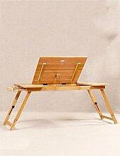 LLA Bambusbett mit Laptop Desk Kann Faule Tisch