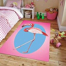 llc Teppich Cartoon Flamingo Muster Wohnzimmer