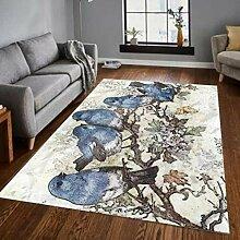llc Teppich Cartoon Vogel Muster Wohnzimmer