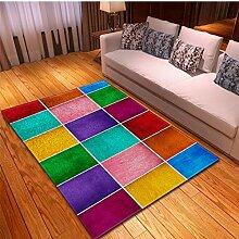 llc Teppich Kinderspiel Teppich Farbe Geometrische