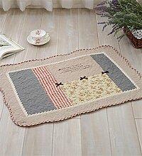 LLD DITAN Anti - Slip Baumwoll - Teppich Garten Teppichboden Matratze Badezimmer Matratzen Stoff Kissen kann maschinenwaschbar ( Farbe : F , größe : 90*150cm )