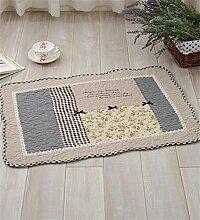 LLD DITAN Anti - Slip Baumwoll - Teppich Garten Teppichboden Matratze Badezimmer Matratzen Stoff Kissen kann maschinenwaschbar ( Farbe : D , größe : 160*210cm )