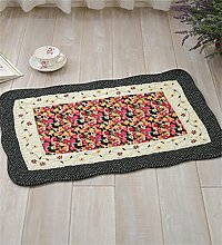 LLD DITAN Anti - Slip Baumwoll - Teppich Garten Teppichboden Matratze Badezimmer Matratzen Stoff Kissen kann maschinenwaschbar ( Farbe : A , größe : 40*60cm )