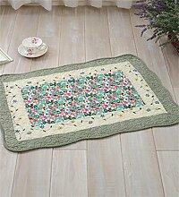 LLD DITAN Anti - Slip Baumwoll - Teppich Garten Teppichboden Matratze Badezimmer Matratzen Stoff Kissen kann maschinenwaschbar ( Farbe : E , größe : 90*150cm )