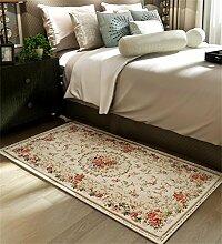 LLD DITAN Europäische Chenille-rechteckige Hauptboden-Tür-Matten-Teppiche Rutschfeste Fuß-Auflage (Farbe : M, größe : 40*60cm)