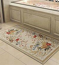 LLD DITAN Europäische Chenille-rechteckige Hauptboden-Tür-Matten-Teppiche Rutschfeste Fuß-Auflage (Farbe : F, größe : 50*80cm)