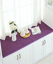 LLD DITAN European-style Baumwoll-und Leinenteppich Anti-Rutsch-schwimmende Fenster Matten Custom Matratze Schlafzimmer Kissen ( Farbe : A , größe : 60*150cm )