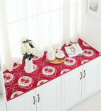 LLD DITAN European-style Baumwoll-und Leinenteppich Anti-Rutsch-schwimmende Fenster Matten Custom Matratze Schlafzimmer Kissen ( Farbe : C , größe : 60*210cm )