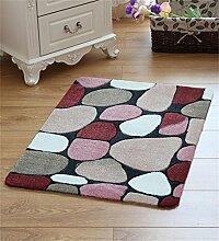 LLD DITAN Pflastersteine Antischleuderbelag Fußmatten Fußauflage Schlafzimmer Küche Bad Mat (Farbe : B, größe : 50*80cm)