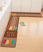LLD DITAN Rutschfeste Auflagen Matratze Tür Eingangshalle Matten Küchenmatten Haushalt Badematten ( größe : 50*80+50*150cm )
