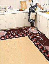 LLD DITAN Rutschfeste Auflagen Matratze Tür Eingangshalle Matten Küchenmatten Haushalt Badematten ( größe : 50*180cm )