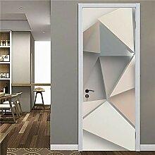 LLHBDA 3D Door Sticker Geometrische Linien