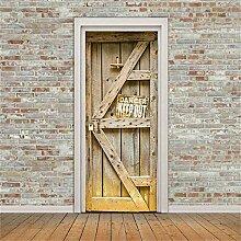 LLHBDA 3D Door Sticker Holzaufkleber an den Türen