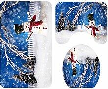 LLLSP Weihnachten Duschvorhang mit