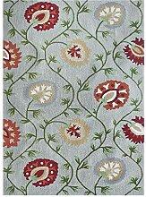 LLluckyDT Teppich Persischer Stil schwarz Cyan mit