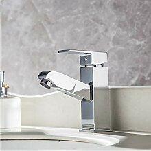 LLLYZZ Küchenarmatur Galvanische Pull Out Sink