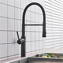 LLLYZZ Matte Black/Chrome Kitchen Sink Wasserhahn