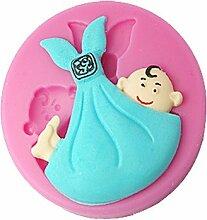 lllzz four-c Silikon Cupcake Form Baby Kuchen Decor Silikonform Kuchen, Dekoration, Fondant Dekorieren Tools Supplies Farbe Pink
