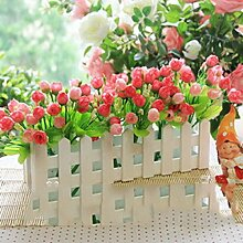 LLPXCC künstliche Blume Kreative Dekoration Esstisch ein Wohnzimmer eine moderne minimalistische europäischen Stil dekorative Blumen Zaun Blume Anzug Fenster Grün Pflanzen Topfpflanzen pink Rose