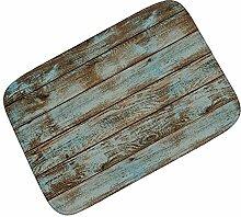 LLQ Fußmatte Rutschfest Badematte Mode Matten Rutschfest Fußmatte Retro Horizontale Fußmatte(Holz)