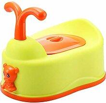 LLRDIAN Kindertoilette Baby-WC (Farbe : Gelb)