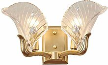 LLT E14 Kupfer Wandlampe, Art Kristall Wohnzimmer