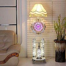 LLT Kreative Uhr Stehleuchte Modernes Wohnzimmer