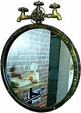 LLT Rund Badezimmer Wandspiegel Retro Metallrahmen