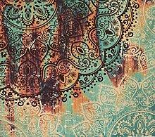 LLv Wanddecke Grün Wandteppich Mandala Böhmische