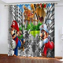 LLWERSJ Gardinen Blickdicht Super Mario