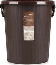 LLWWY Offener runder Mülleimer mit Überlappung,