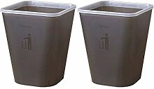 LLWWY Quadratischer Mülleimer Haushalt Badezimmer