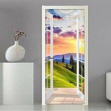 LLWYH Türaufkleber 3D-Fenster Natürliche