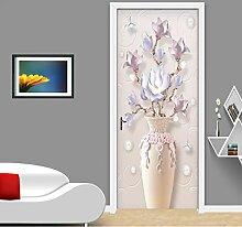 LLWYH Türaufkleber 3D Moderne Reliefvase
