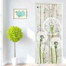 LLWYH Türaufkleber 3D Tür Moderne Holzbrett