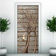 LLWYH Türaufkleber 3D Tür Wohnzimmer