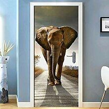 LLWYH Türaufkleber Autobahn Elefant Wohnzimmer