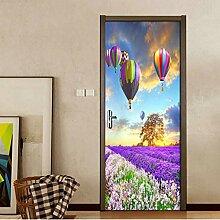 LLWYH Türaufkleber Lavendel Natürliche