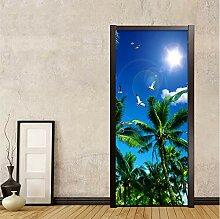 LLWYH Türaufkleber Tür 3D Natürliche Landschaft
